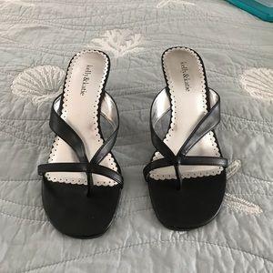 Kelly & Katie Black Heeled Sandals